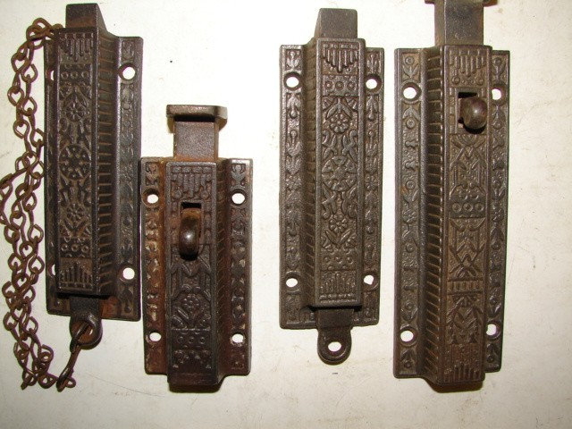 Antique Restoration Hardware - RobinsonsAntiques Antique Hardware - Door Latch Bolts