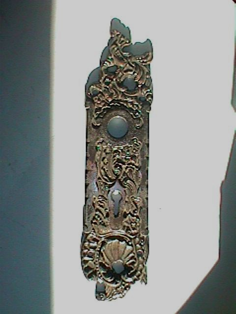antique hardware door knob backplates