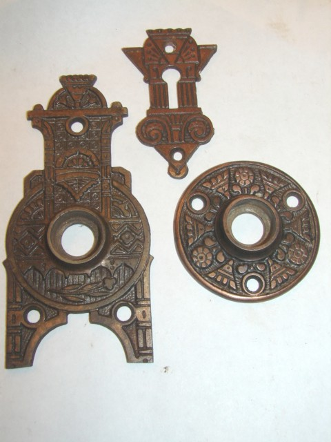Item #DKBP7 · Antique Hardware, Door Knob Backplates