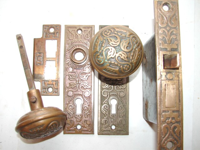 antique restoration hardware door knob set 25