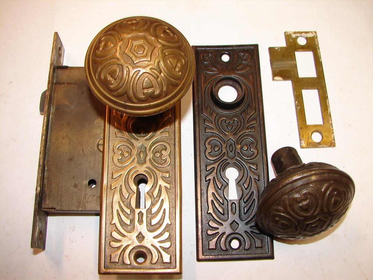 Item #DKS61, Antique Restoration Hardware - Robinson's Antique Hardware -brass & Iron Door Knobs