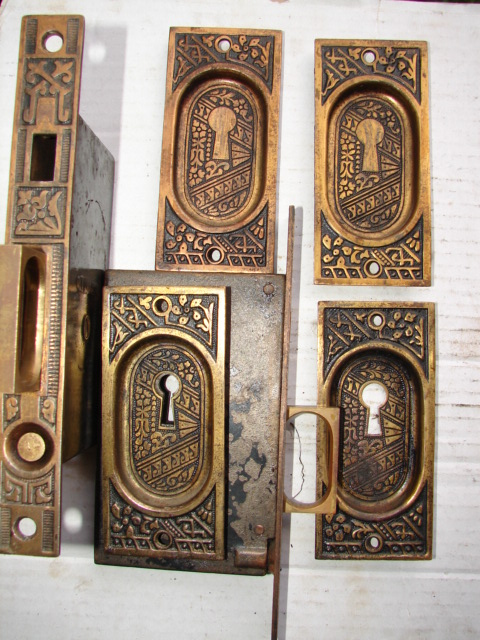 Antique Restoration Hardware, Pocket Door - Robinson's Antique Hardware -pocket Door Hardware
