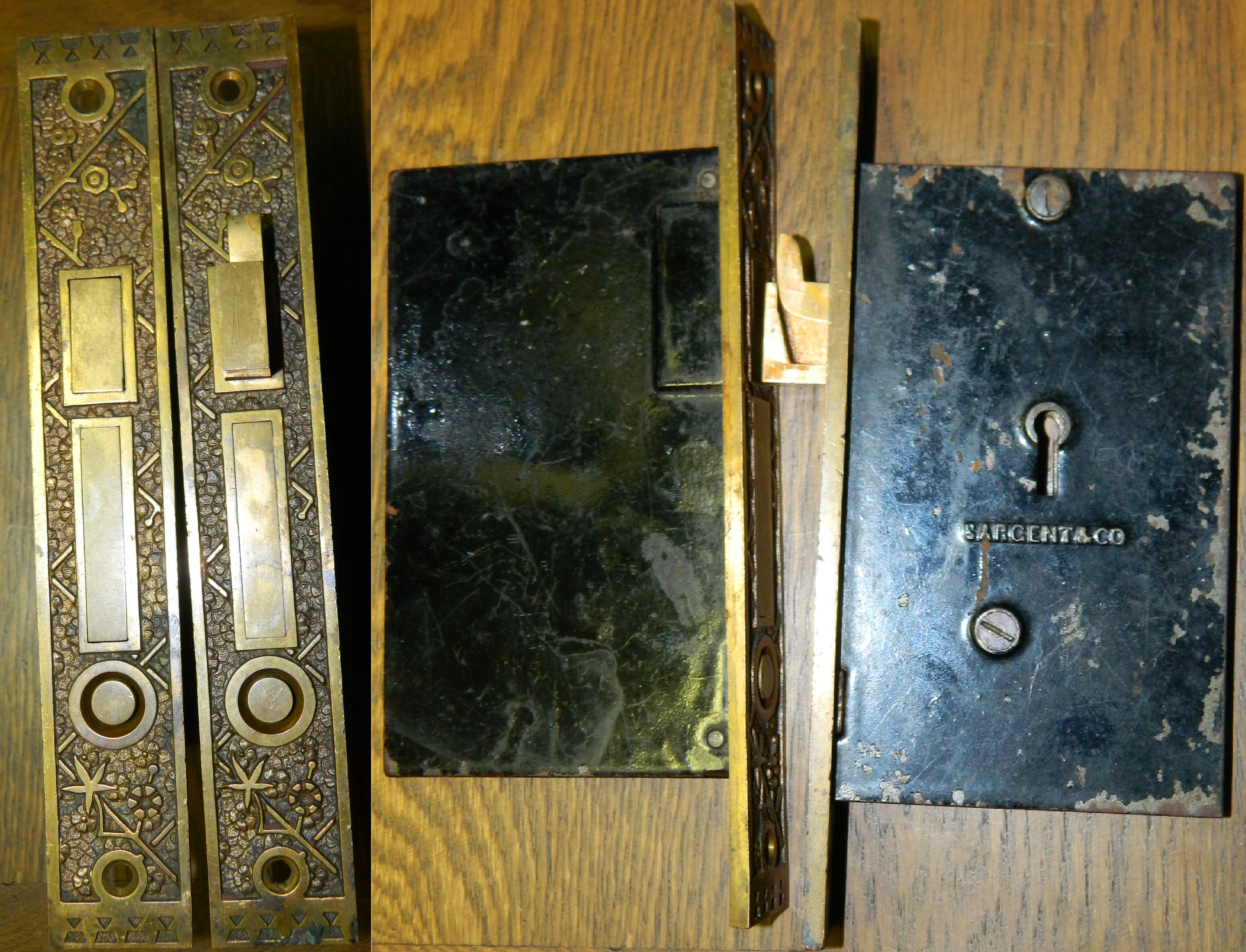 Antique Restoration Hardware, Pocket Door Lock Set 6 ...
