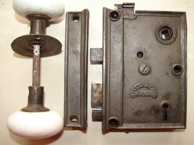 Antique Restoration Hardware, early-rim-lock-17 ... - Antique Door Hardware. - Rim Locks Pre 1865