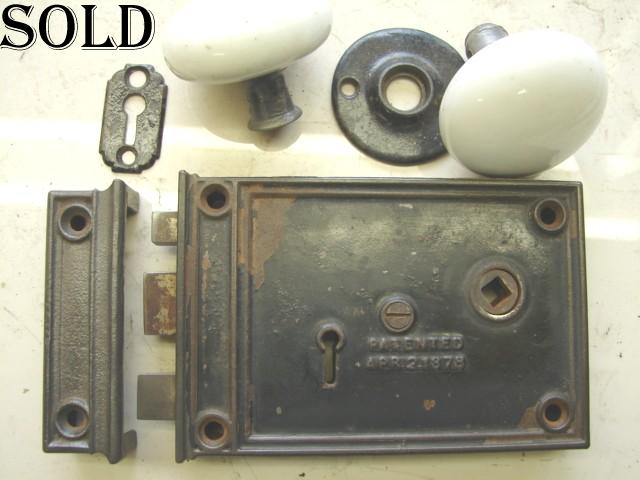 Item #RL5 · Antique Restoration Hardware - Robinson's Antique Hardware - Early Rim Locks