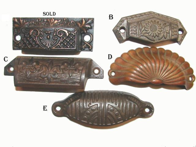Antique Hardware, Restoration Hardware, Drawer Pulls - Antique Hardware Drawer Pull Handle