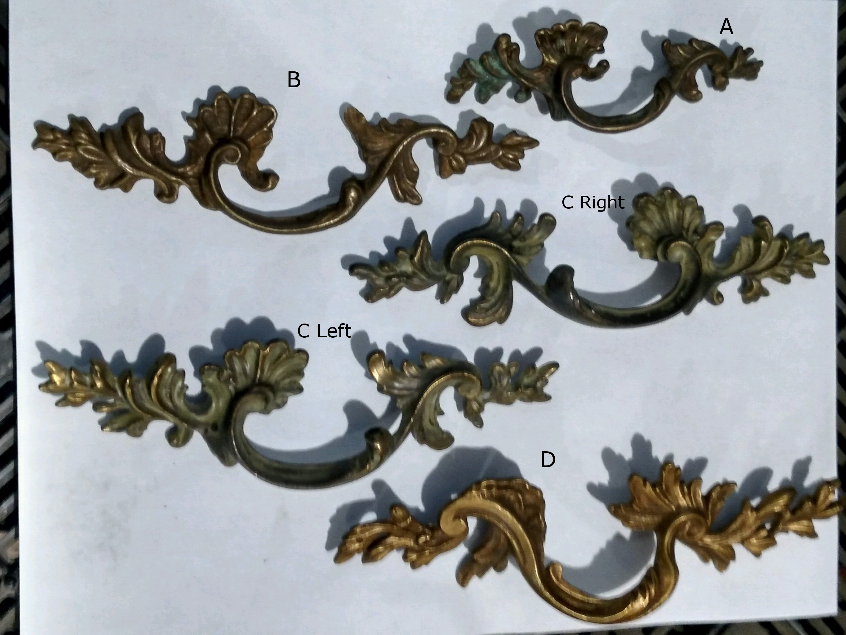 Robinson\'s Antique Hardware - French Provincial Style Drawer Pulls
