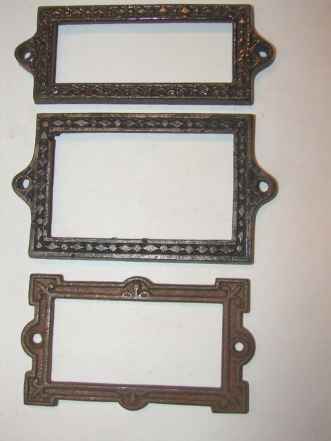 item file6 antique hardware restoration hardware file cabinet tab pull card holders