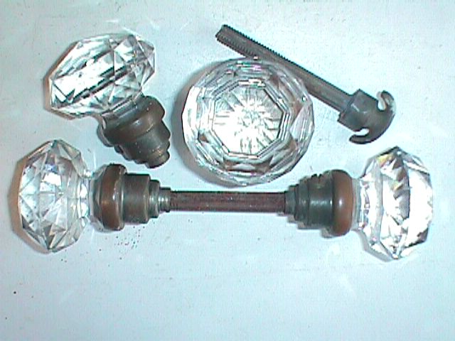 Item #GK15, Antique Restoration Hardware, Glass Door Knob - Robinson's Antique Hardware - Glass Door Knobs