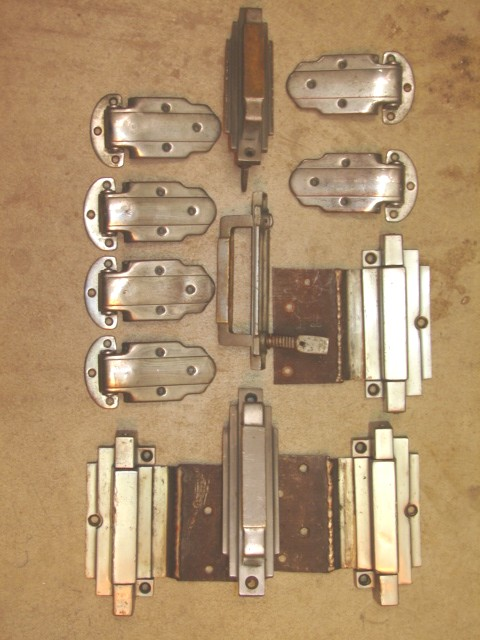 Antique Restoration Hardware, Art Deco Ice Box Hardware