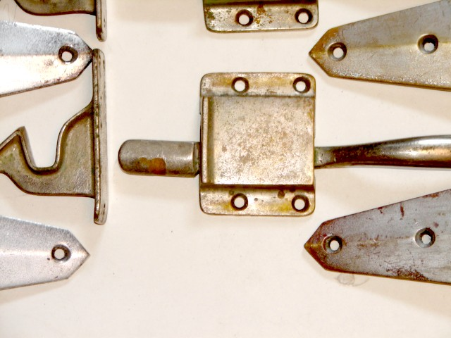 ... Antique Restoration Hardware plain-ice-box-sets-10a & Robinsonu0027s Antiques Antique Hardware - Ice Box Hinges u0026 Latch Sets Aboutintivar.Com