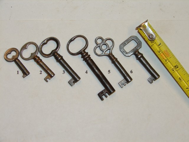 Antique Restoration Hardware, Keys - Robinson's Antique Hardware - Furniture & Chest Locks