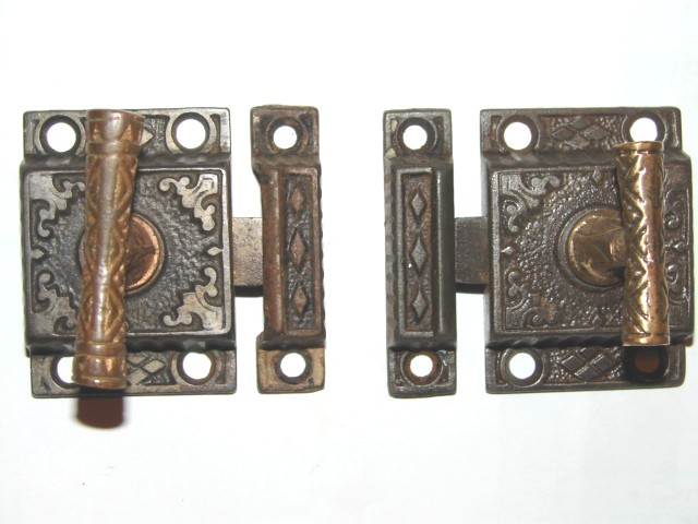 Item #VL1, Antique Hardware, Restoration Hardware, Cupboard Latch - Robinson's Antiques ~ Antique Hardware - Cupboard Latches