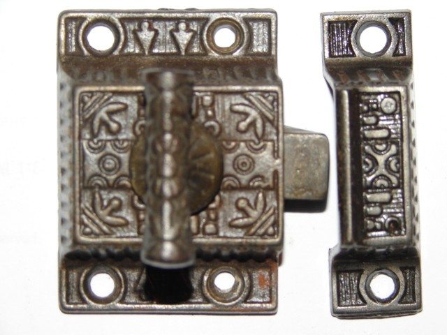 Item #VL2, Antique Hardware, Restoration Hardware, Cupboard Latch - Robinson's Antiques ~ Antique Hardware - Cupboard Latches