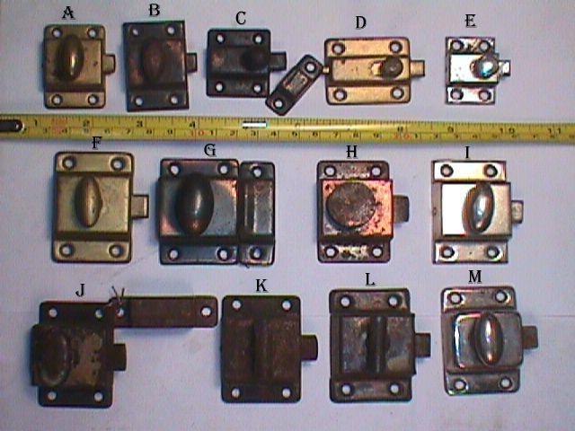 Item #VL3, Antique Hardware, Restoration Hardware, Cupboard Latch