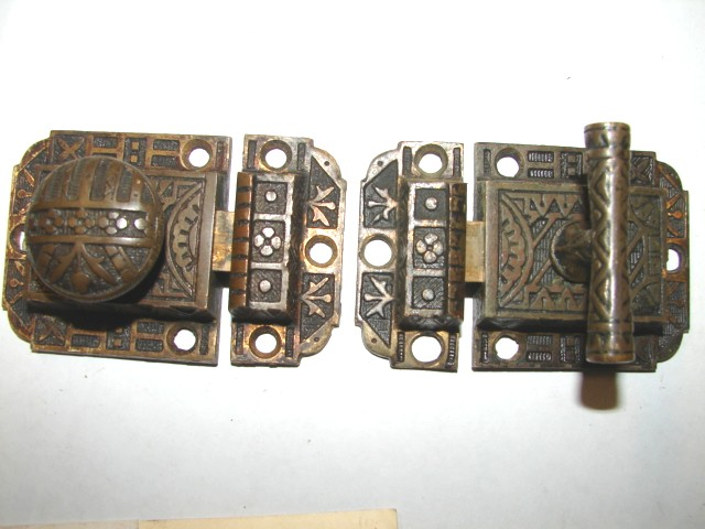 Item #VL5, Antique Hardware, Restoration Hardware, Cupboard Latch - Robinson's Antiques ~ Antique Hardware - Cupboard Latches
