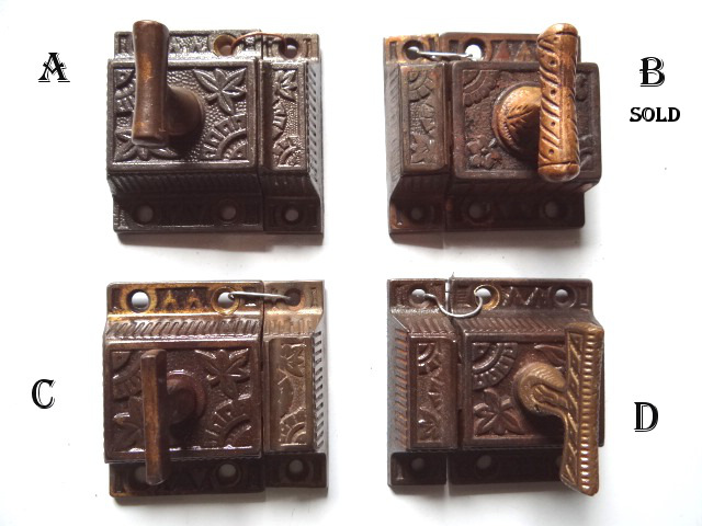 Item #VL7, Antique Hardware, Restoration Hardware, Cupboard Latch - Robinson's Antiques ~ Antique Hardware - Cupboard Latches