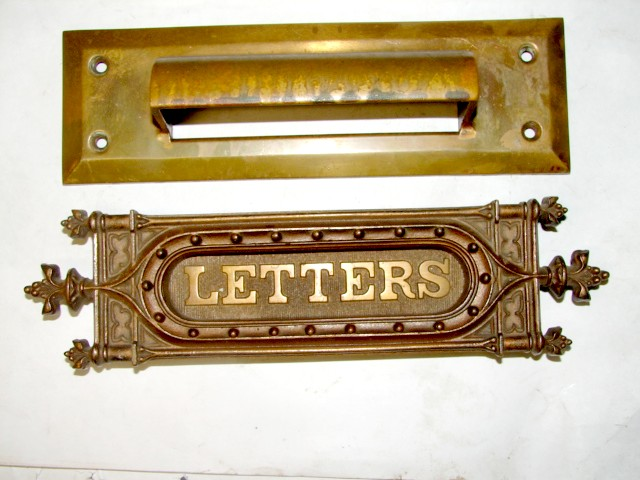 Antique Restoration Hardware, Mail Slot - Robinson's Antique Hardware - Mail Slot Letter Slots