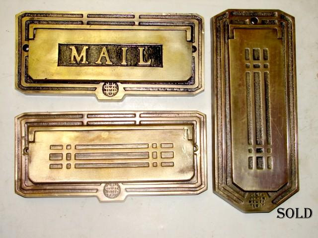Item #mail50, Antique Restoration Hardware, Mail - Robinson's Antique Hardware - Mail Slot - Letter Slots